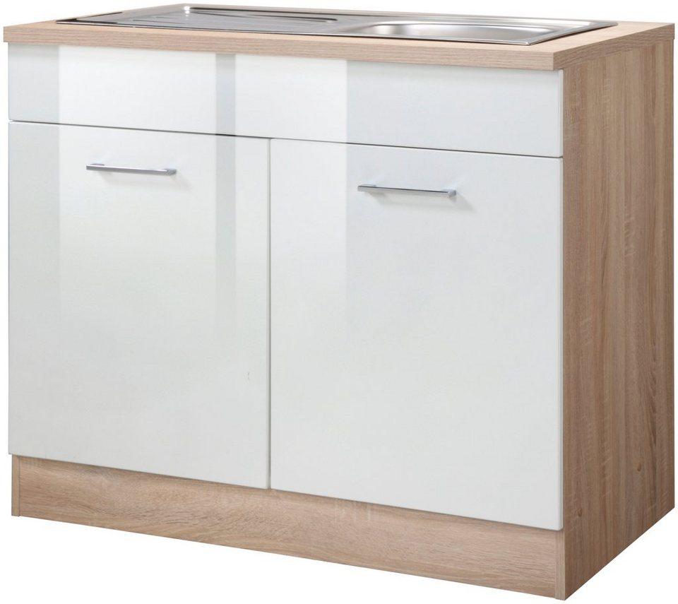Held Möbel Spülenschrank »Prato, Breite 100 cm« in weiß