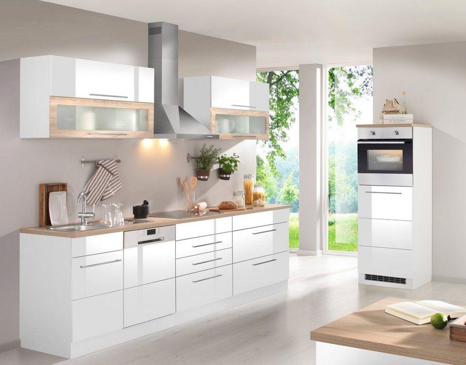 Küchenzeile mit E-Geräten »Vito, Breite 350 cm« in weiß