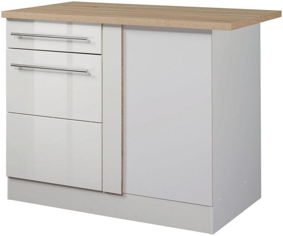 Eckunterschrank »Vito, Breite 110 cm« in weiß