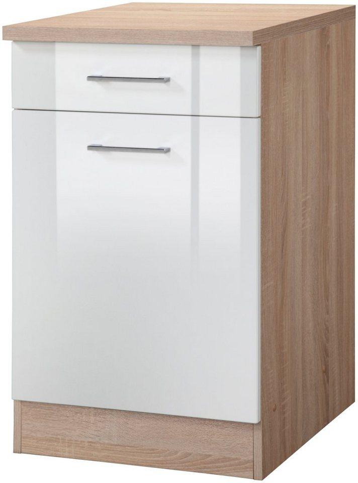 Küchenunterschrank »Prato, Breite 50 cm« in weiß