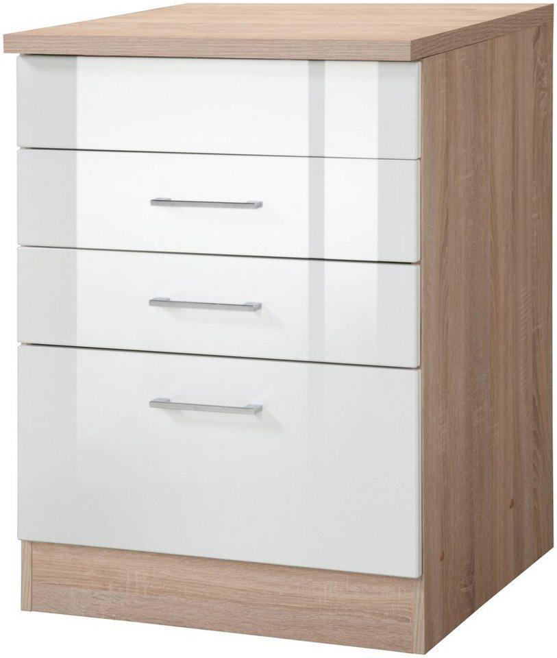 Held Möbel Kochfeldumbauschrank »Prato, Breite 60 cm« in weiß