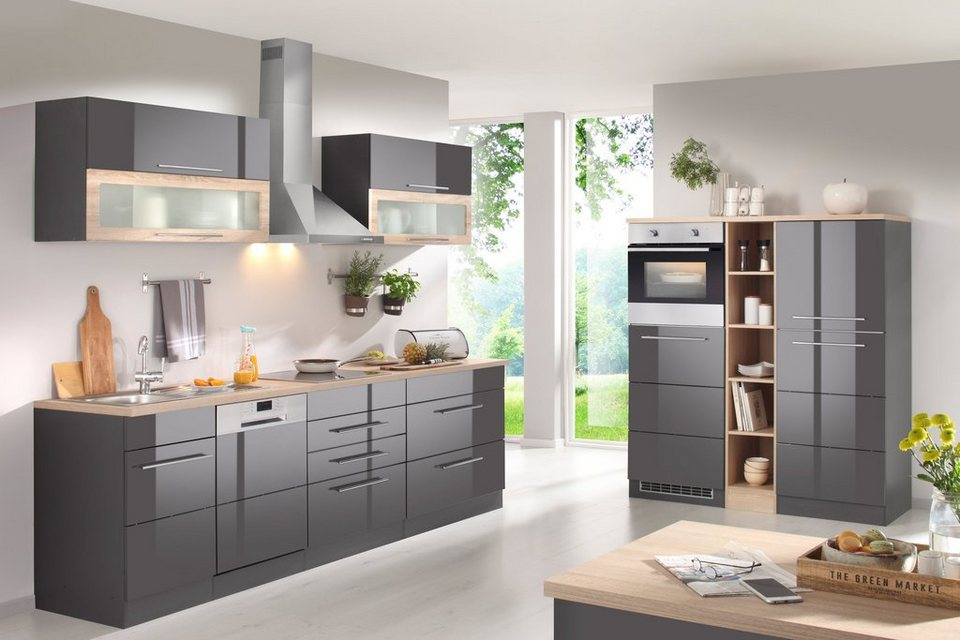 HELD MÖBEL Küchenzeile mit E-Geräten, Breite 440 cm online kaufen | OTTO