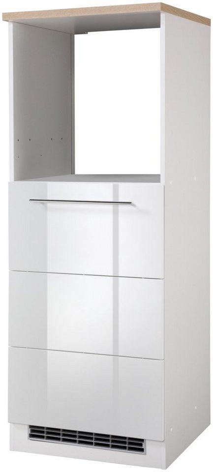 HELD MÖBEL Kombinierter Backofen-Kühlumbauschrank, Höhe 165 cm in weiß