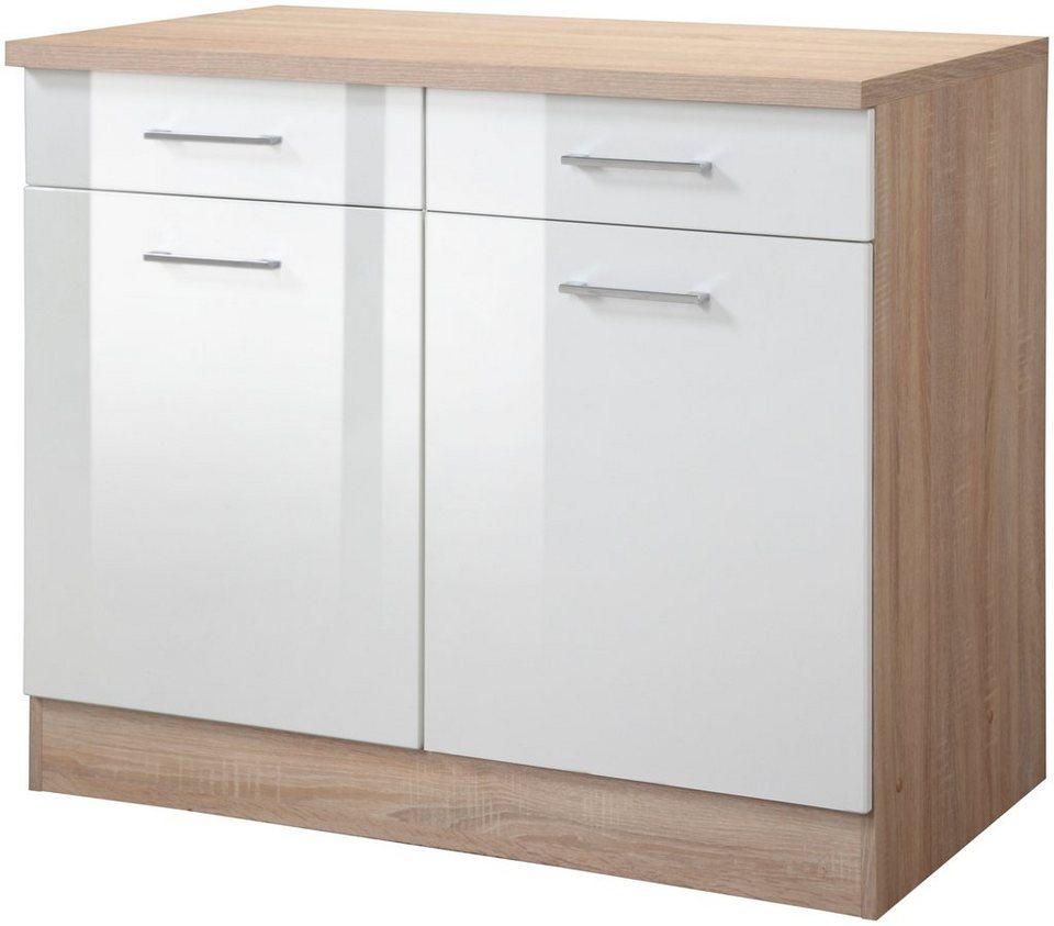 Küchenunterschrank »Prato, Breite 100 cm« in weiß