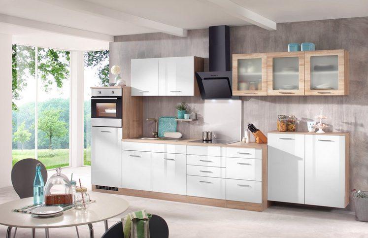 HELD MÖBEL Küchenzeile mit E-Geräten »Prato, Breite 370 cm«