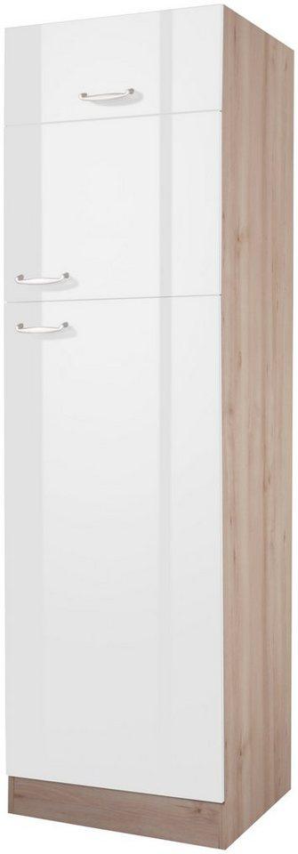 OPTIFIT Kühlumbauschrank »Calgary, Höhe 206,8 cm« | Küche und Esszimmer > Küchenschränke > Umbauschränke | Weiß | OPTIFIT