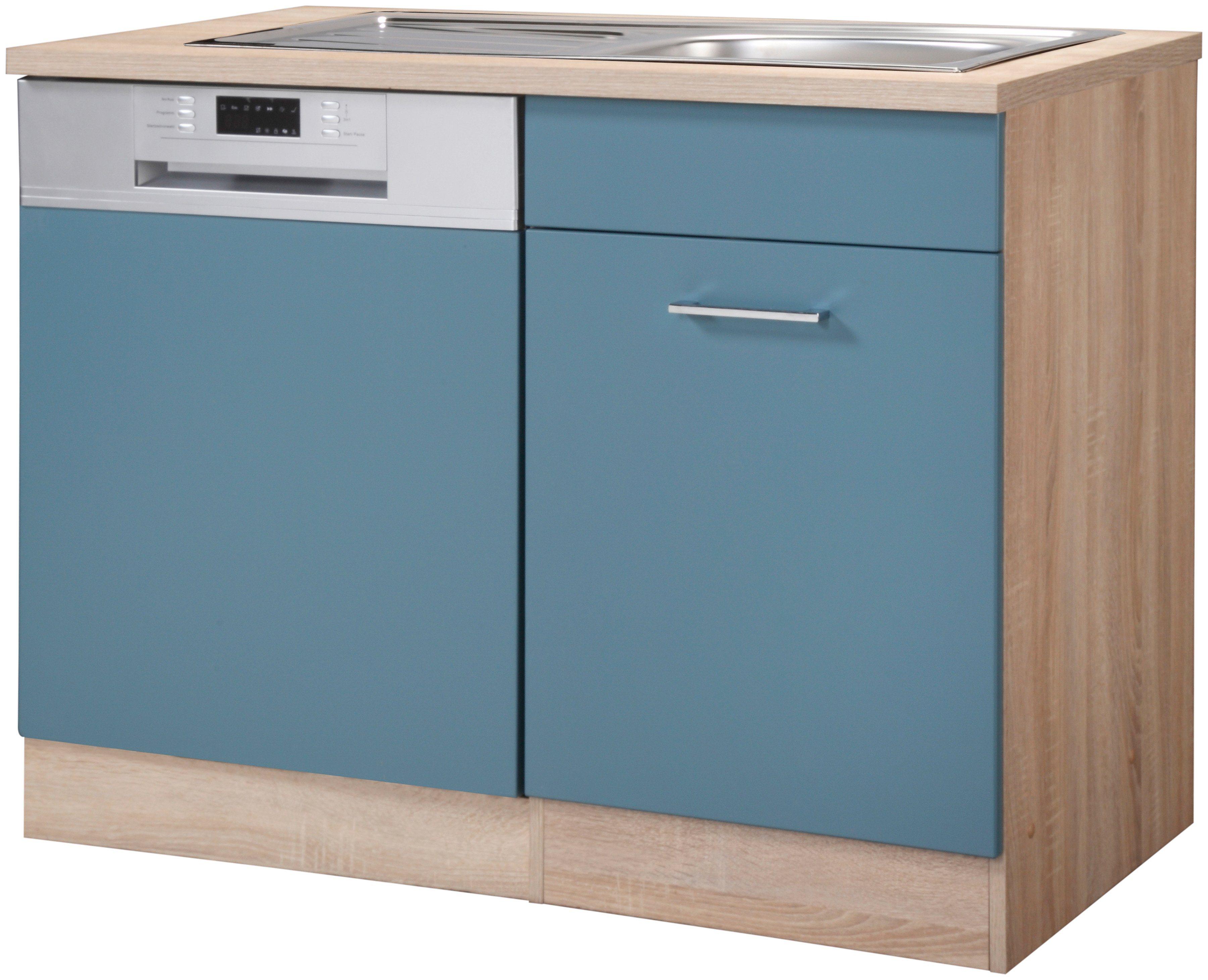 HELD MÖBEL Spülenschrank »Prato, Breite 110 cm« | Küche und Esszimmer > Küchenschränke > Spülenschränke | Holzwerkstoff - Edelstahl | HELD MÖBEL