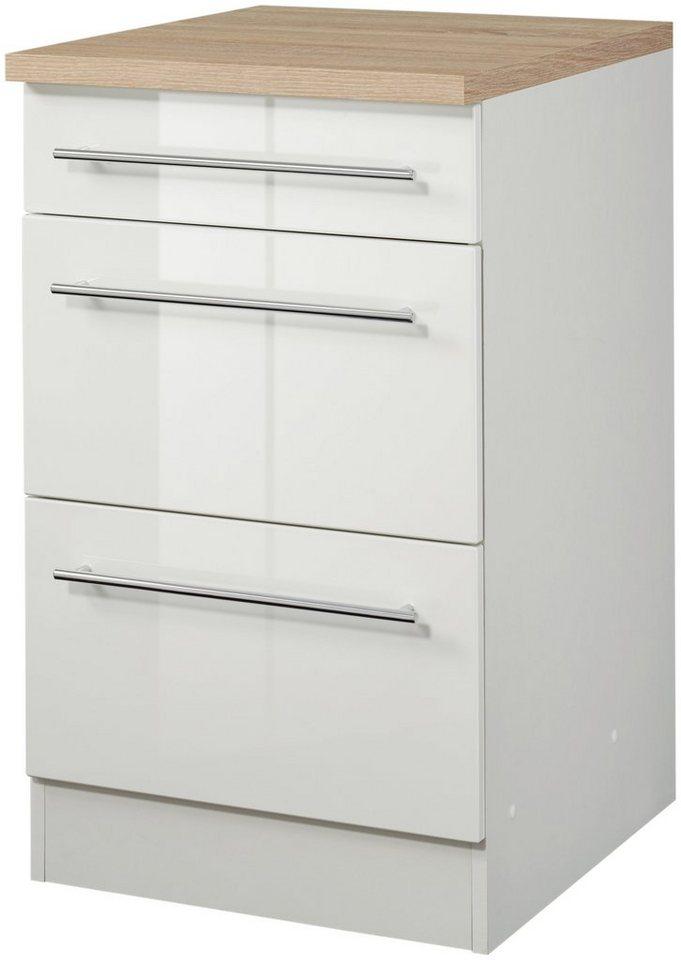 HELD MÖBEL Küchenunterschrank, Breite 50 cm in weiß