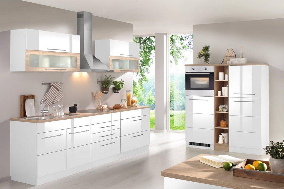 Küchenzeile mit E-Geräten »Vito, Breite 430 cm« in weiß