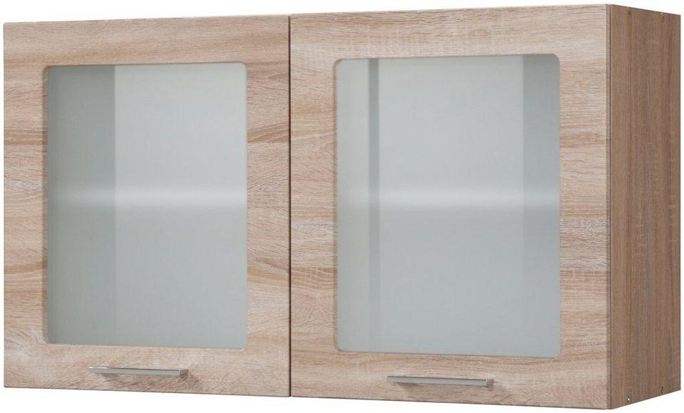 Held Möbel Glas-Hängeschrank »Prato, Breite 100 cm« in eichefarben sonoma