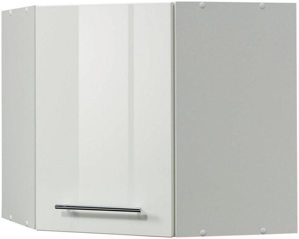 Eck-Hängeschrank »Vito, Breite 60 x 60 cm« in weiß