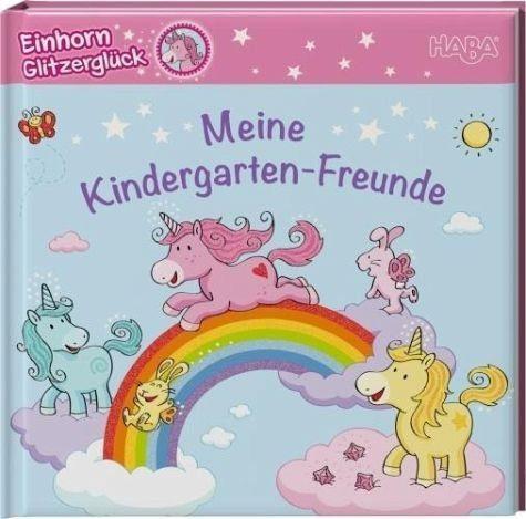 Gebundenes Buch »Einhorn Glitzerglück - Meine Kindergarten-Freunde«
