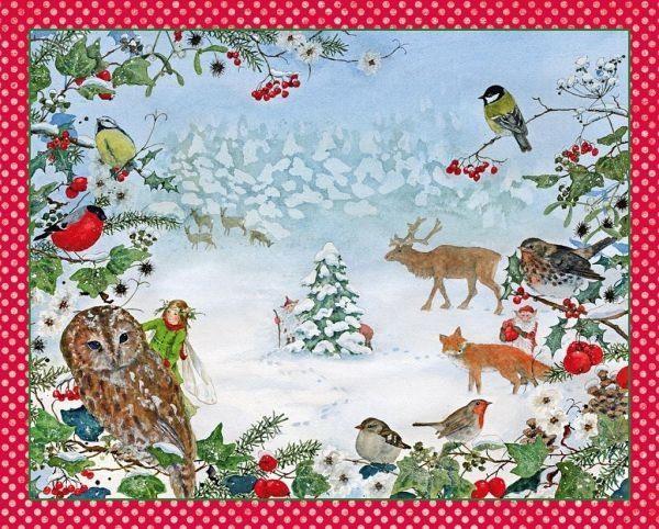 Kalender Adventskalender »Waldweihnacht«