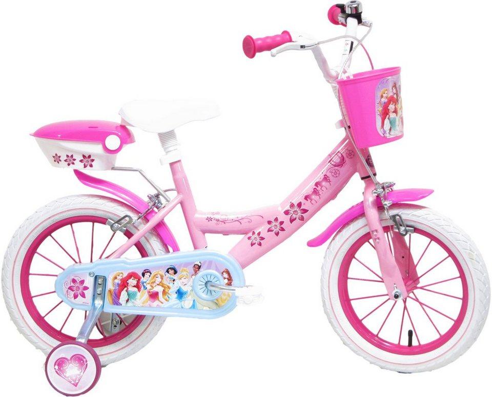 Disney Kinderfahrrad Mädchen, 16 Zoll, U-Brakes, »Princess« in pink-hellblau