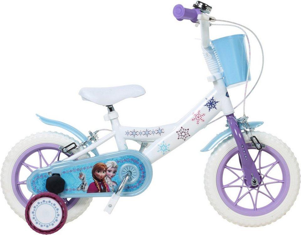 Disney Kinderfahrrad Mädchen, 12 Zoll, U-Brakes, »Frozen« in weiß-blau