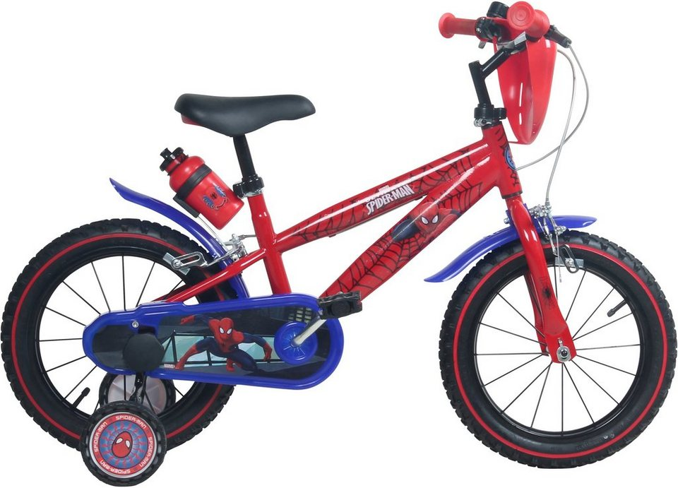 kinderfahrrad jungen 14 zoll u brakes spiderman. Black Bedroom Furniture Sets. Home Design Ideas