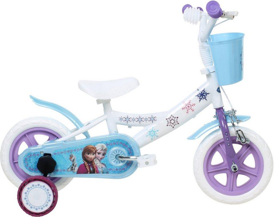 Disney Kinderfahrrad Mädchen, 10 Zoll, U-Brakes, »Frozen« in weiß-blau