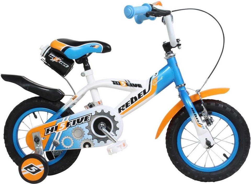 Hi5five Kinderfahrrad Jungen, 12 Zoll, V-Brakes, »Rebel« in blau-orange