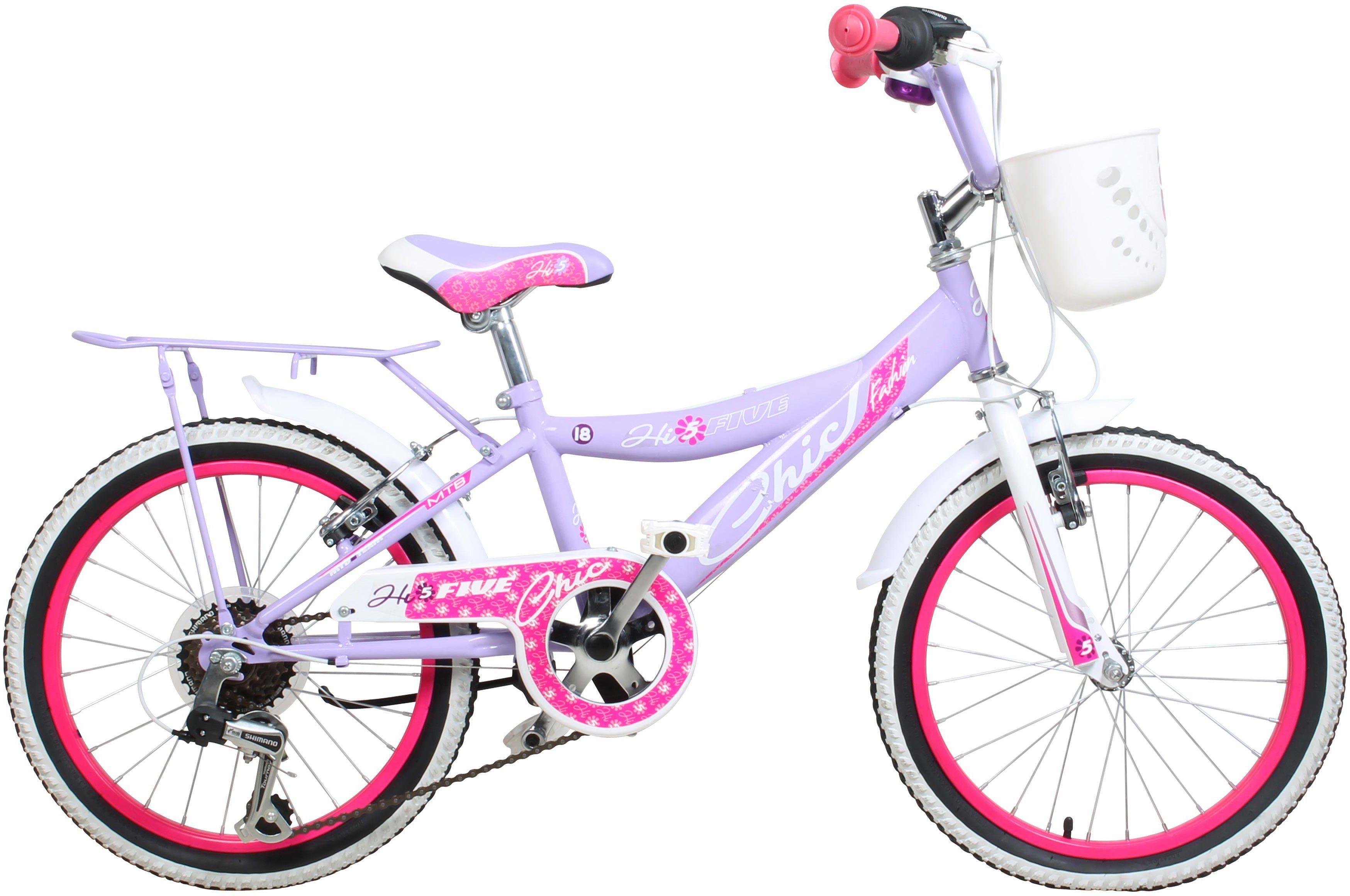Hi5five Kinderfahrrad Mädchen, 18 Zoll, V-Brakes, »Chic«