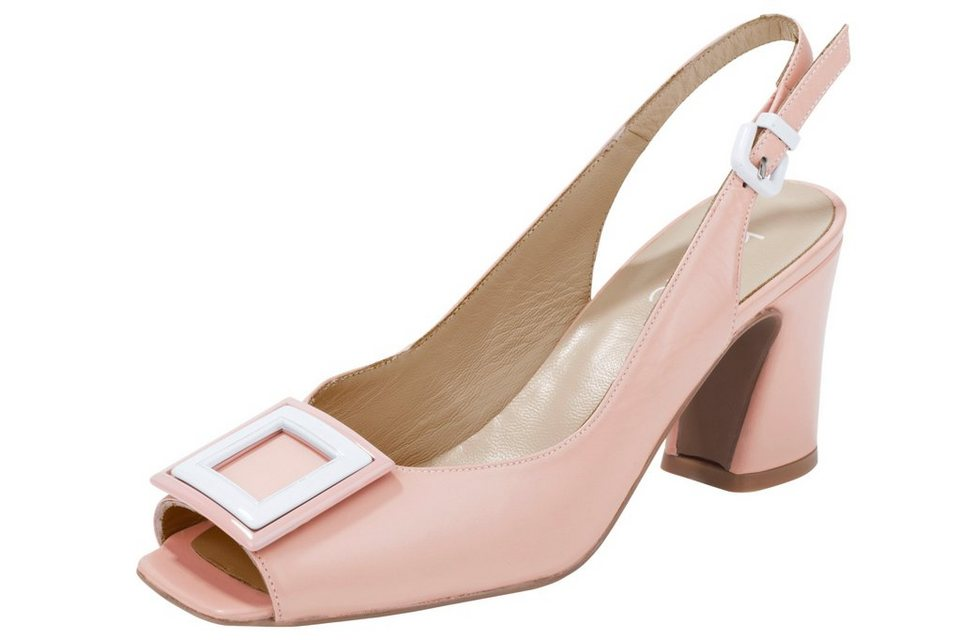 new products 16837 a123e Heine Sandalette, Aus softem Ziegen-Nappaleder oder Rind-Lackleder online  kaufen   OTTO