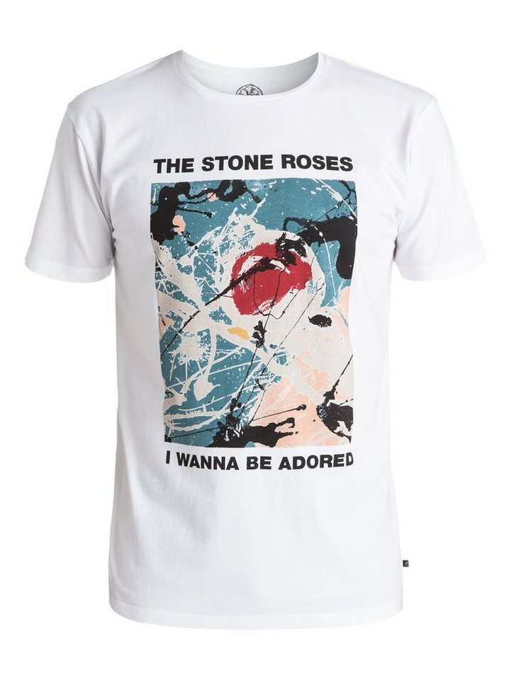 Quiksilver T-Shirt »Stone Roses Adored« in Bright white