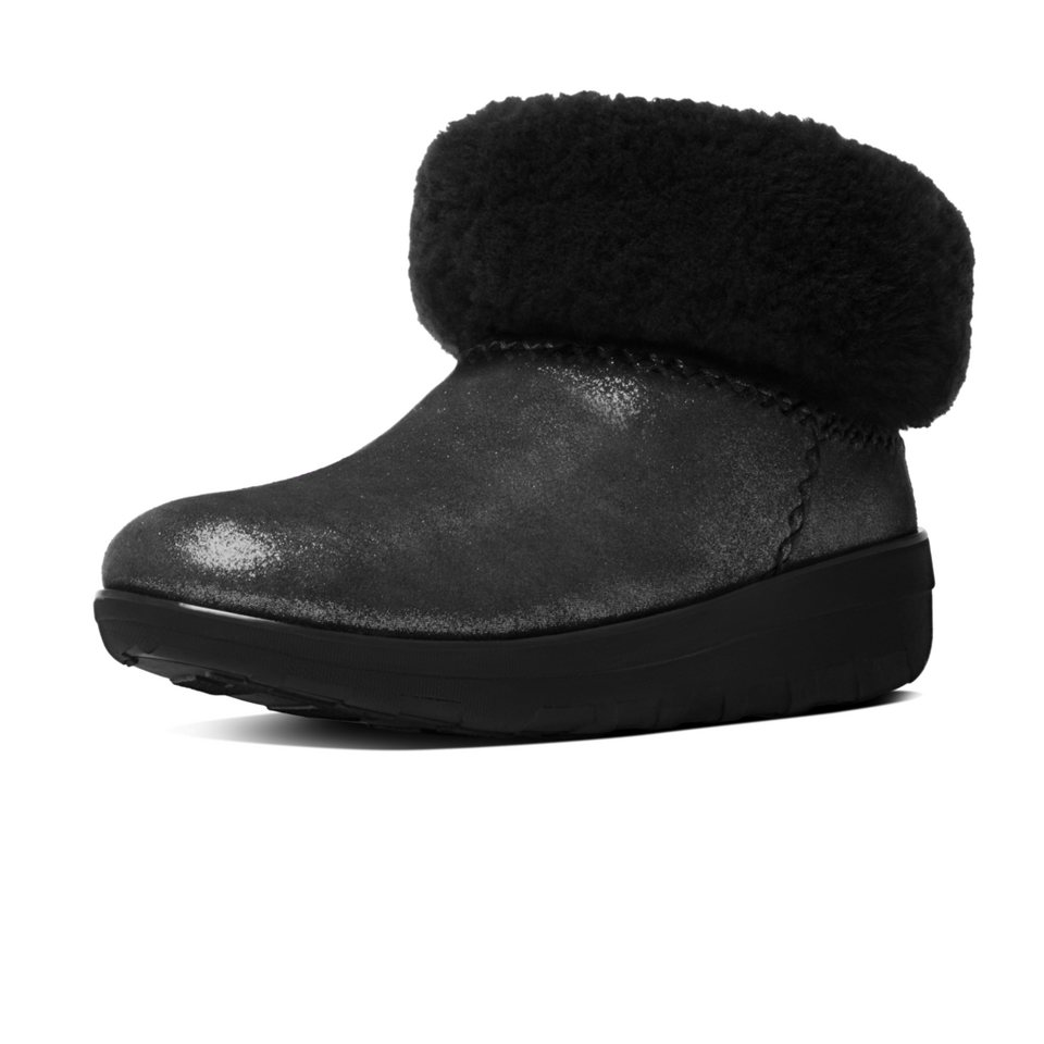 FitFlop »FitFlop MUKLUK SHORTY SHIMMER BOOTS Black« Ankleboots in glänzend
