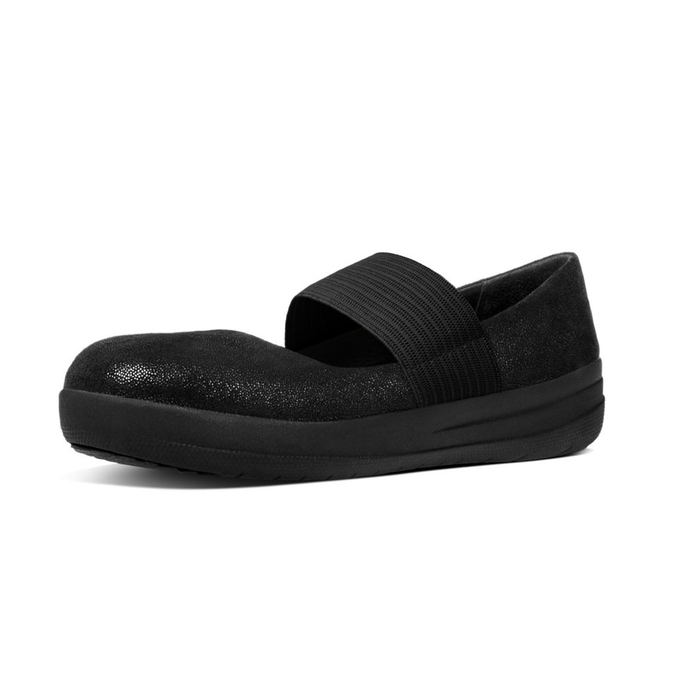 FitFlop »FitFlop F-SPORTY MARY JANE Black Glimmer« Ballerina in schwarz