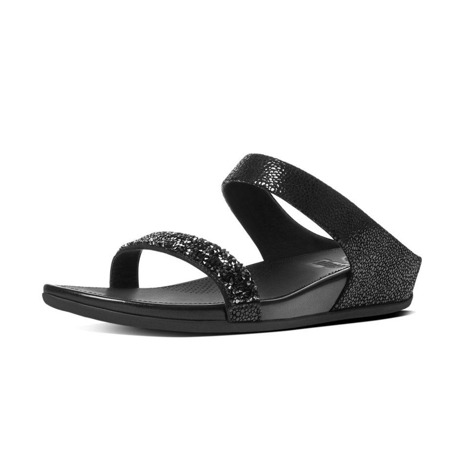 FitFlop »FitFlop BANDA ROXY SLIDE Black« Pantolette in schwarz