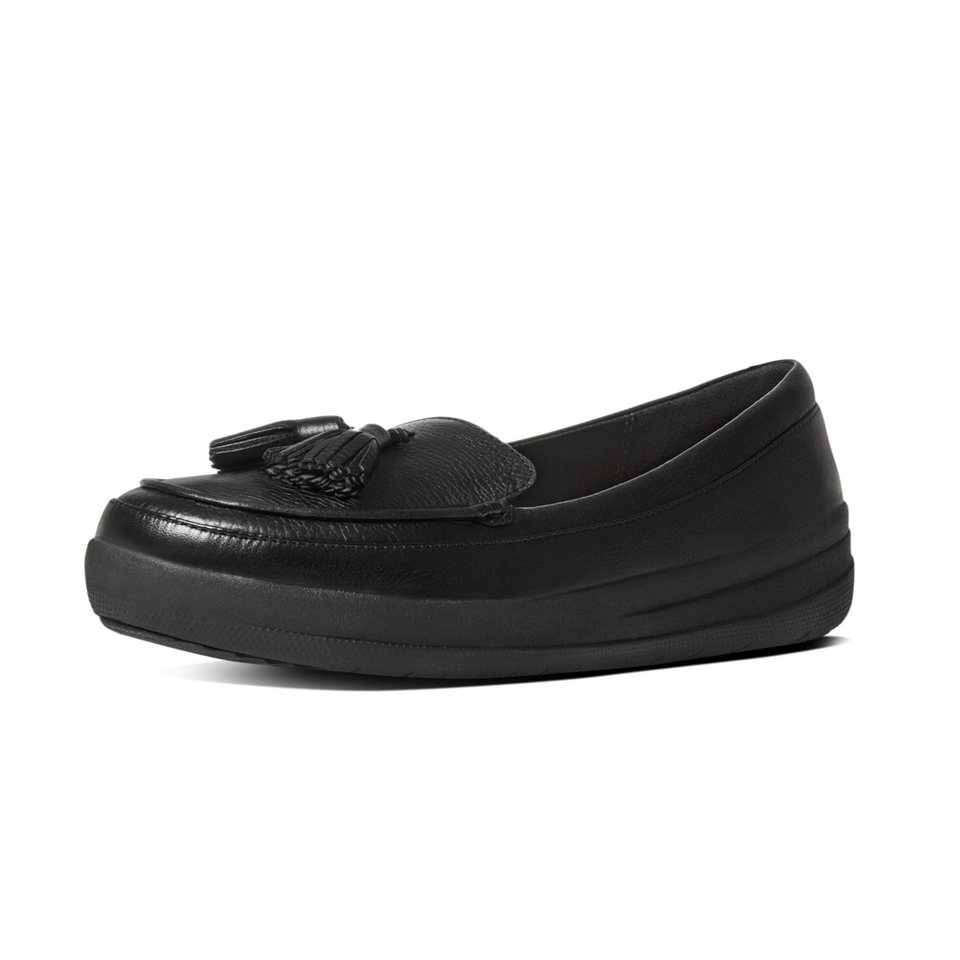 FitFlop »FitFlop F-SPORTY TASSEL LOAFERS Black« Slipper in schwarz