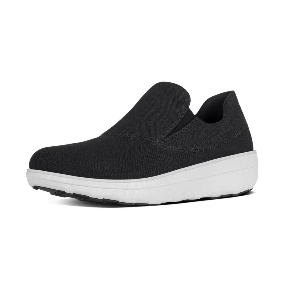 FitFlop »FitFlop LOAFF SPORTY SLIP-ON SNEAKERS Black« Slipper in schwarz