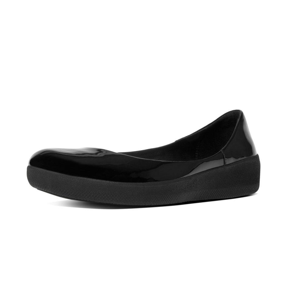 FitFlop »FitFlop PATENT SUPERBALLERINA All Black« Ballerina in schwarz