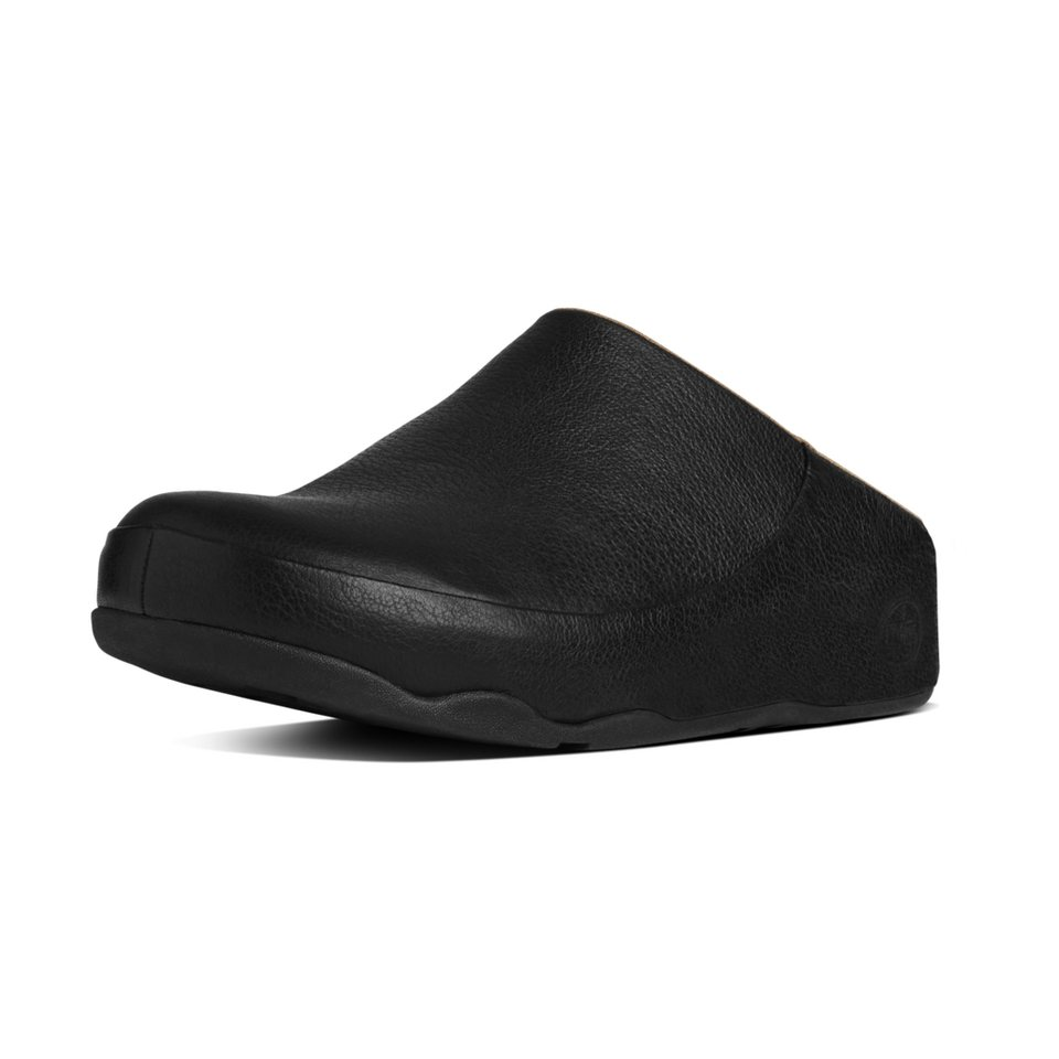 FitFlop »FitFlop GOGH MOC (LEATHER) All Black« Pantoffel in schwarz