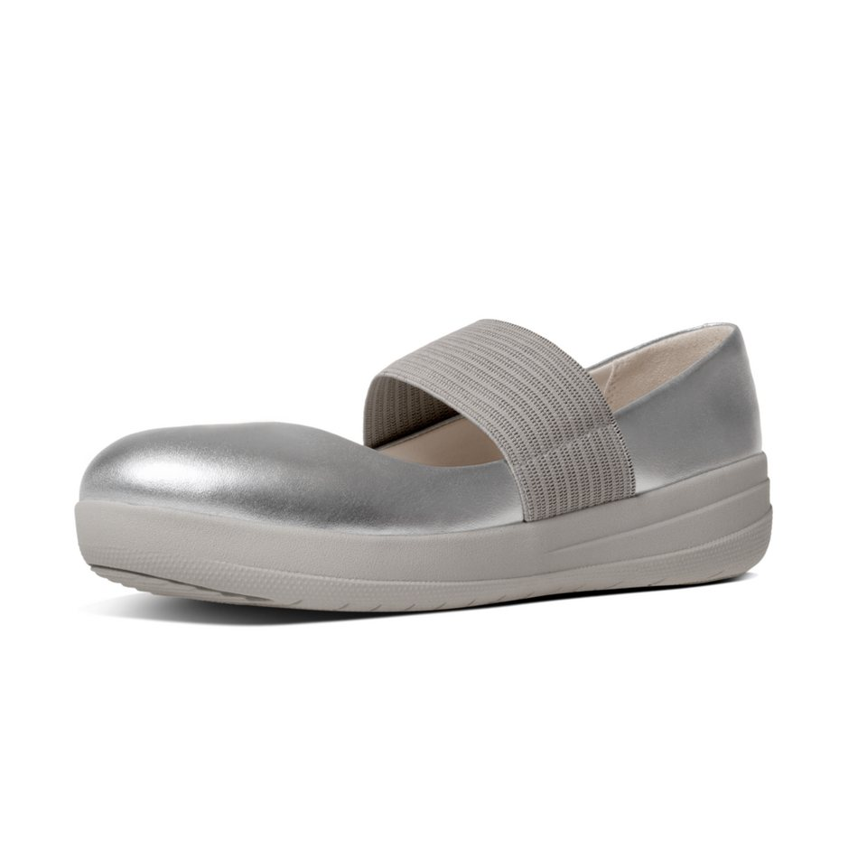 FitFlop »FitFlop F-SPORTY MARY JANE Silver« Ballerina in silberfarben