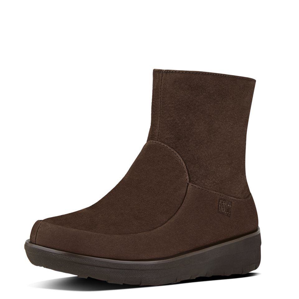 FitFlop »FitFlop LOAFF SHORTY ZIP BOOT Chocolate Brown« Ankleboots in braun