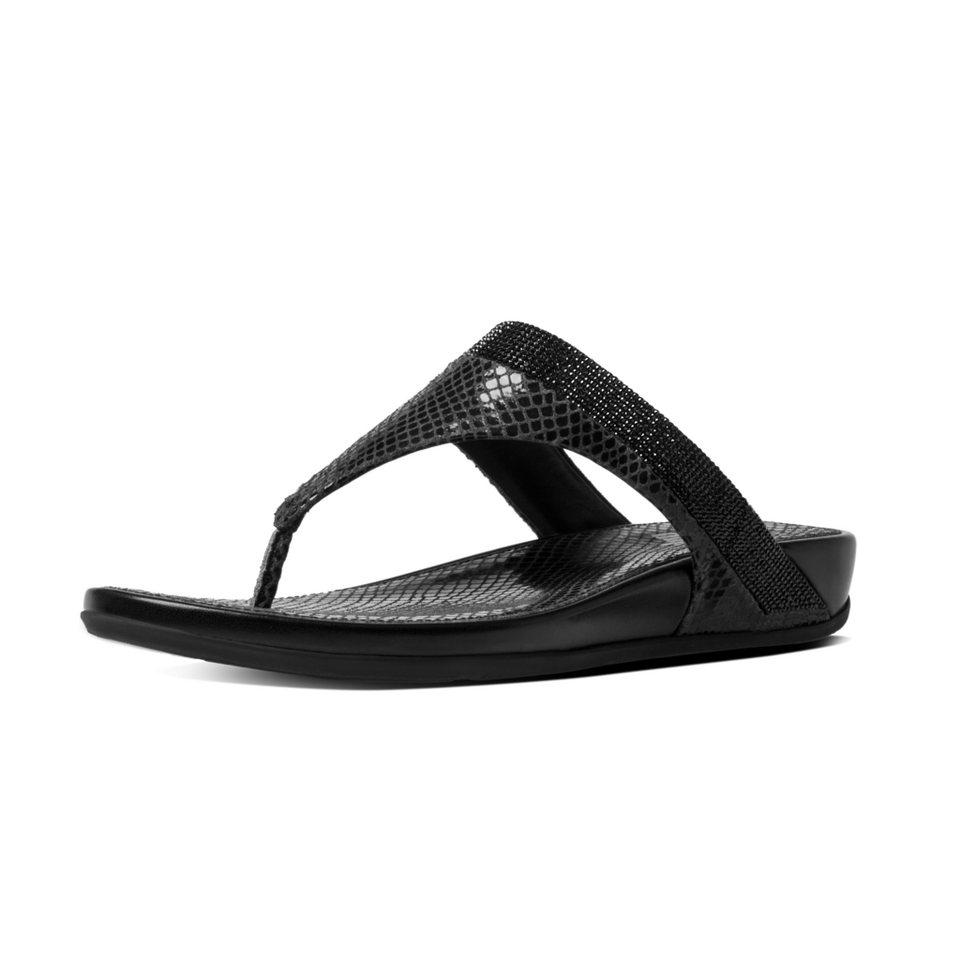 FitFlop »FitFlop BANDA CRYSTAL IMI-SNAKE SLIDE Black« Pantolette in schwarz