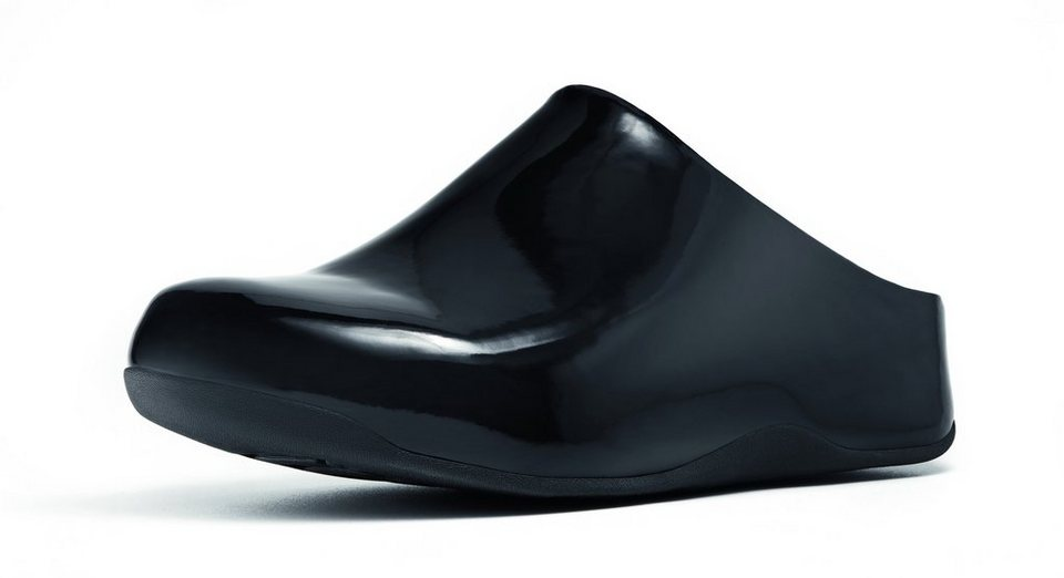 FitFlop »FitFlop Shuv Patent Black« Clog in schwarz