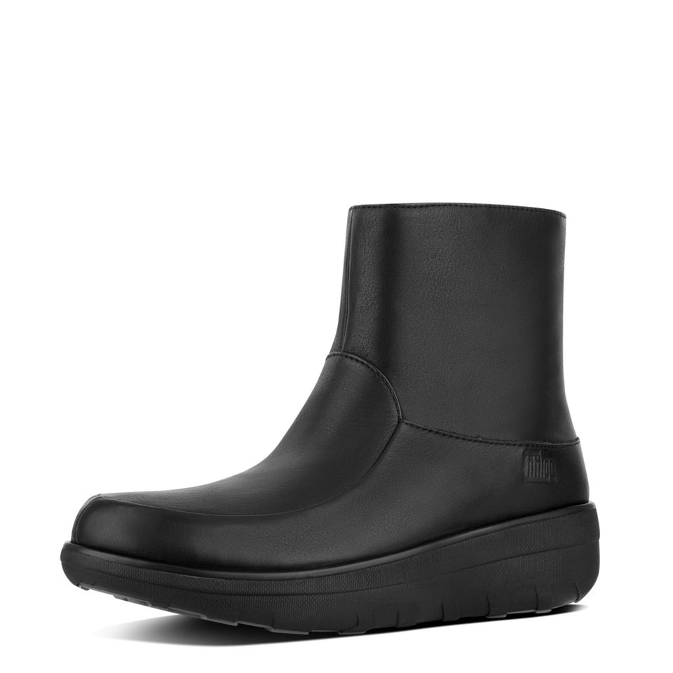 FitFlop »FitFlop LOAFF SHORTY ZIP BOOT All Black« Ankleboots in schwarz