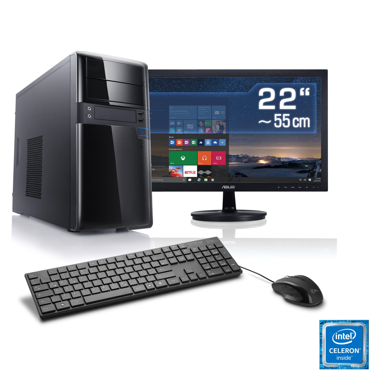 "CSL Multimedia PC Set | G3920 | HD Graphic | 4 GB RAM | 22"" TFT »Speed T1418 Windows 10 Home«"