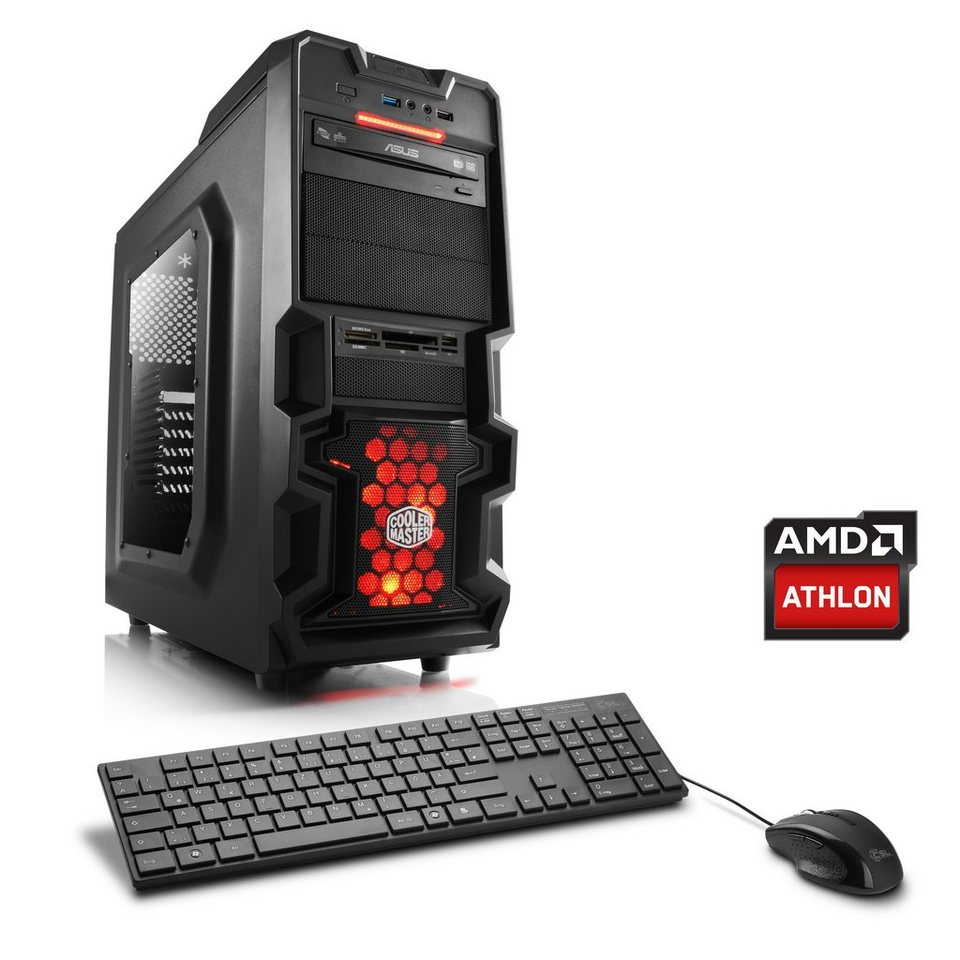 CSL Gaming PC AMD Athlon X4 880K | GTX 1060 | 8 GB RAM | 240 GB SSD »Levitas T4080 Windows 10«