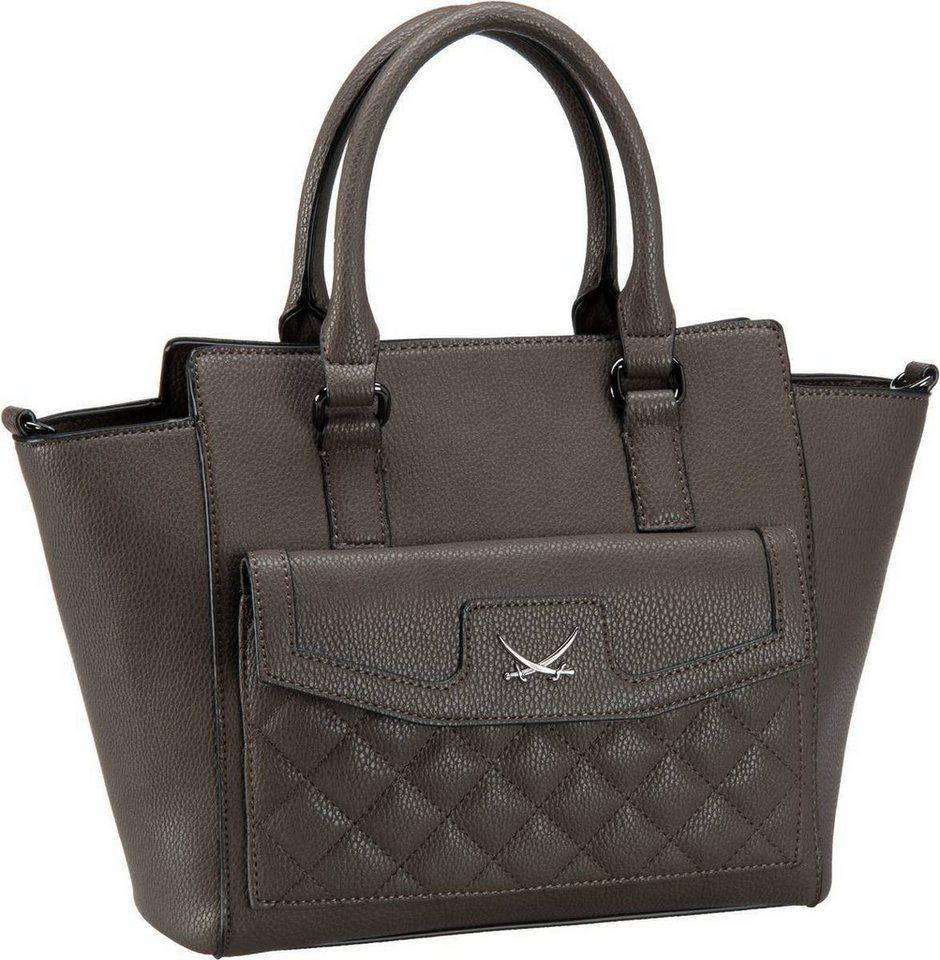 Sansibar Square 1004 Zip Bag in Grey