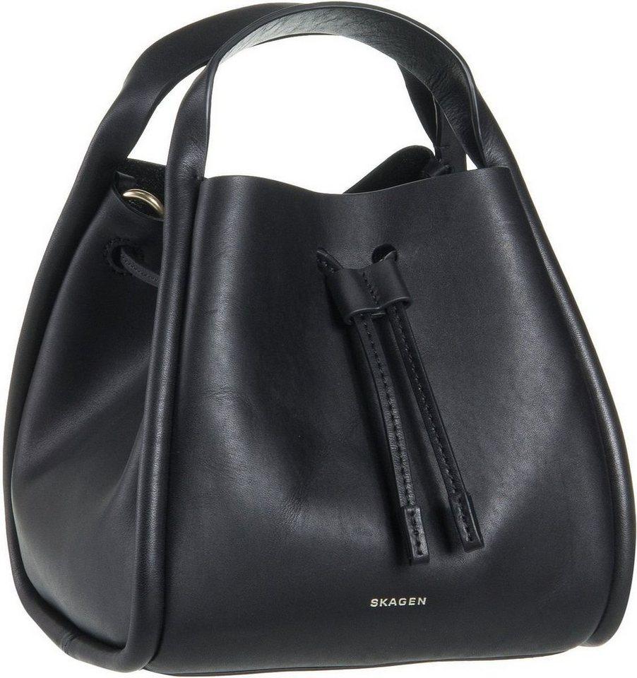 Skagen Kolding Mini Bucket Bag in Black