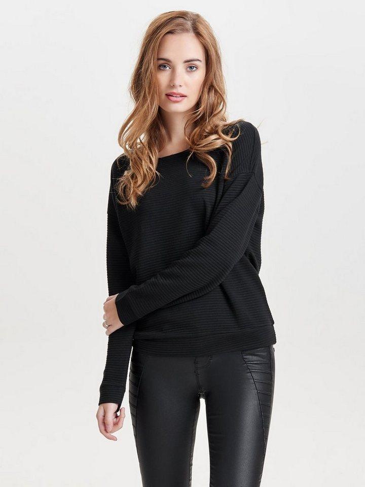 Only Detailliertes Oberteil mit langen Ärmeln in Black