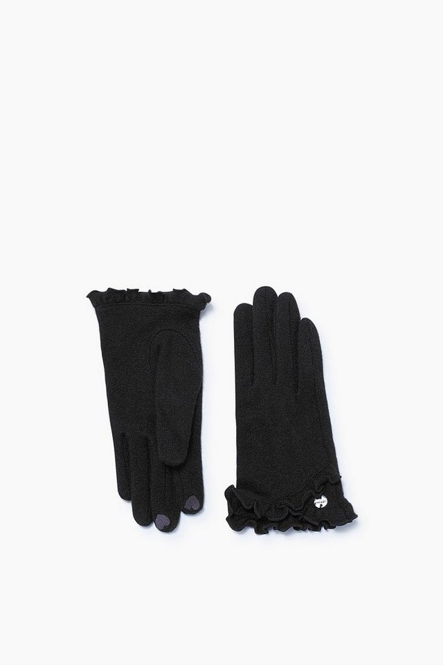 ESPRIT CASUAL Touchscreen Strickhandschuhe aus Wolle in BLACK
