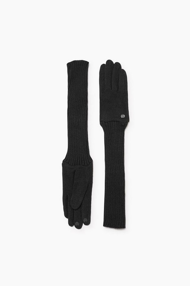 ESPRIT CASUAL Extralange Touchscreen Strickhandschuhe in BLACK