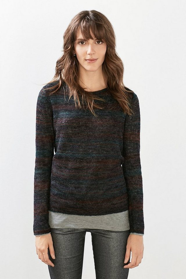 ESPRIT CASUAL Softer Mohair-Mix-Pulli in BORDEAUX RED