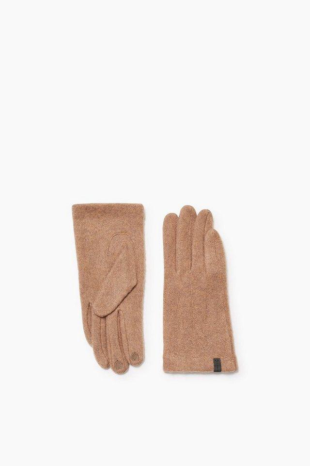 ESPRIT CASUAL Touchscreen Handschuhe aus Fleece in CAMEL