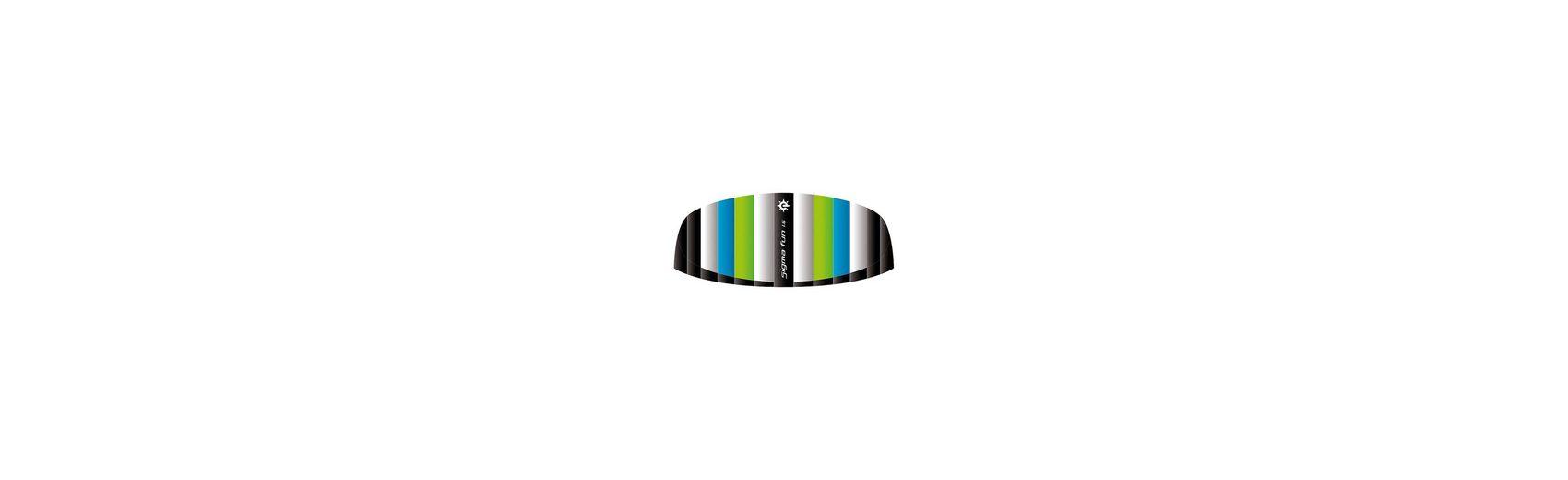 Drachen Sigma Fun 1.6, weiß/blau/grün, Zweileiner
