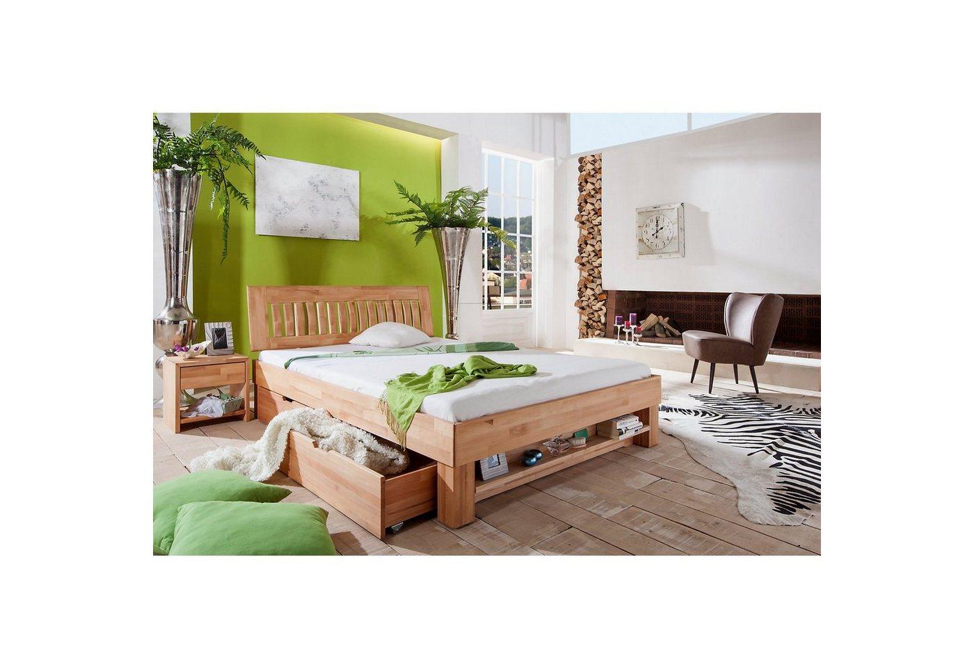 Relita Futonbett KLEOPATRA, Buche massiv, geölt, 180 x 200 cm | Schlafzimmer > Betten > Futonbetten | Braun | Relita