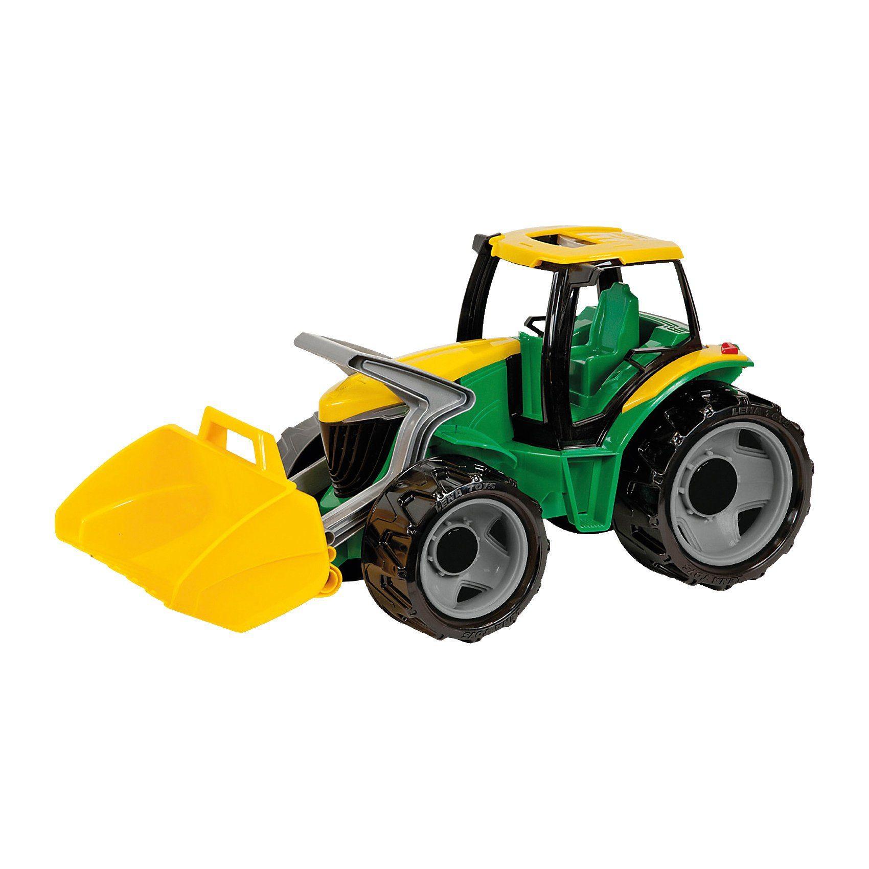 LENA Starke Riesen Traktor mit Lader, grün, 62 cm