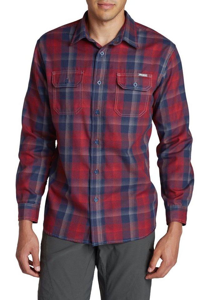 Eddie Bauer Travex® Flanellhemd in Dunkelrot